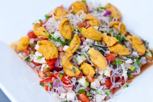 Sea Urchin Ceviche Recipe With A Shiso Lime Vinaigrette
