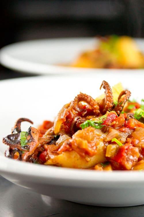 Baby Octopus in Tomato Sauce Recipe
