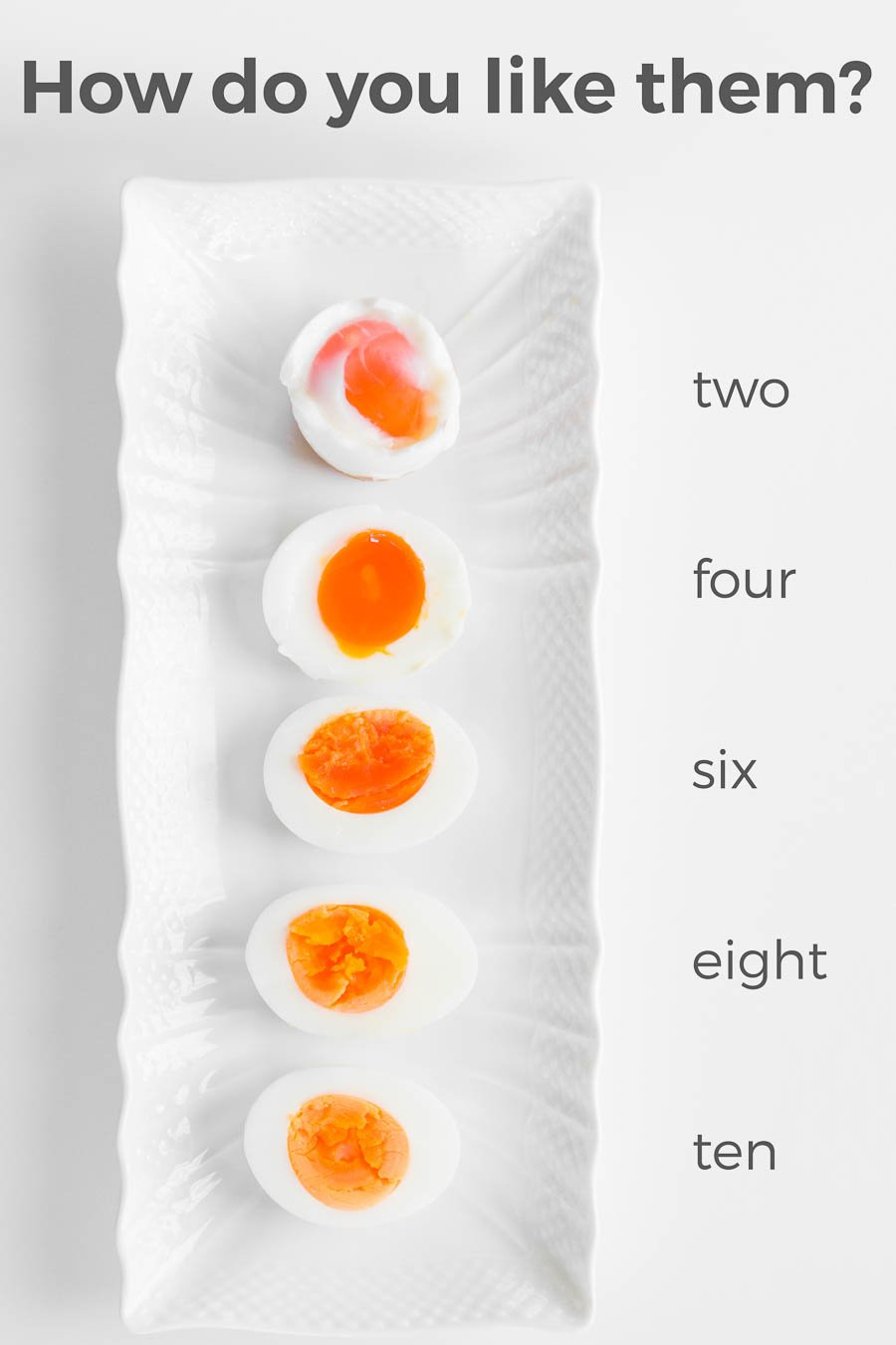 My easy tricks for making the perfect boiled egg. How do you like boiled eggs cooked?