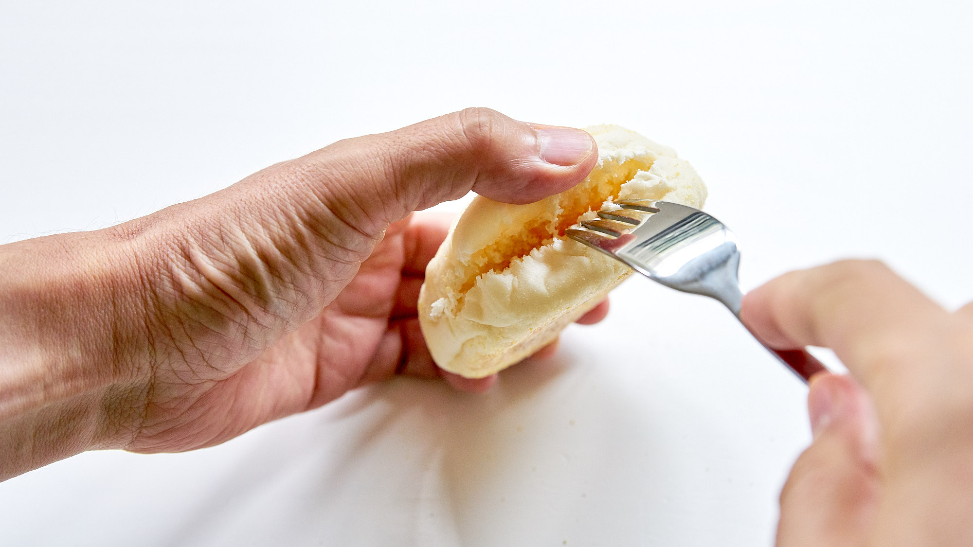 Split the English Muffins in half with a fork