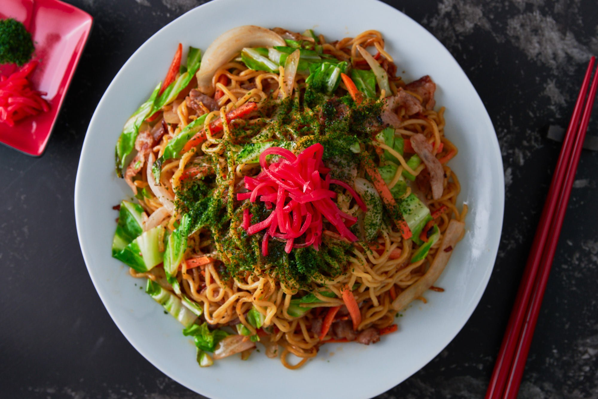 One of the most popular steet foods in Japan, Yakisoba is an easy delicious stir-fry that comes together in minutes.