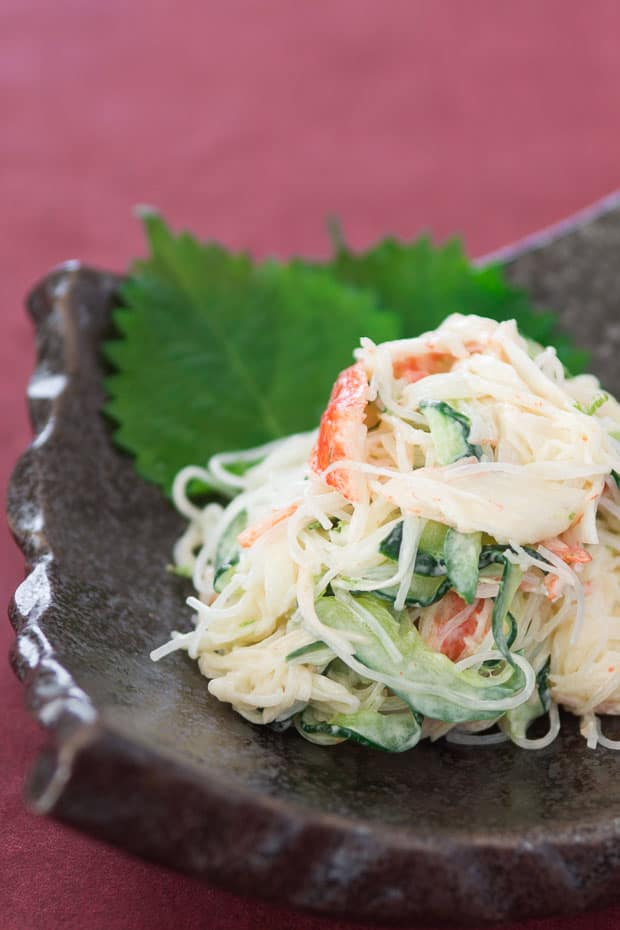 Kani Salad Recipe Japanese Crab And Cucumber Salad