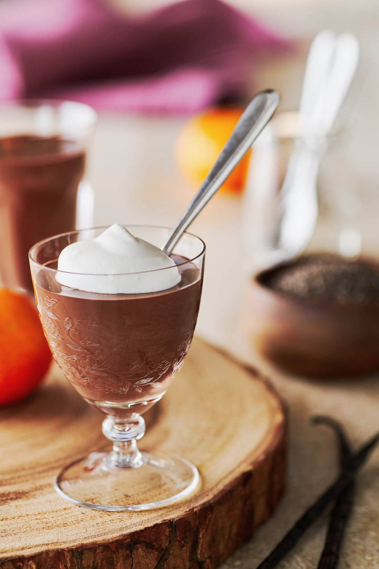 This decadently rich and creamy vegan chocolate pudding comes together from a handful of ingredients in under a minute.