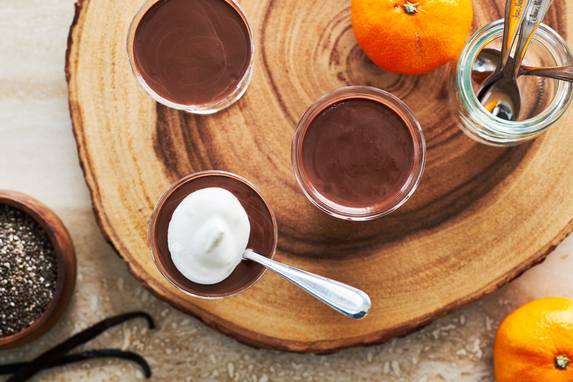 Made with coconut milk, cocoa powder, and chia seeds, this indulgent chocolate pudding comes together in under a minute.