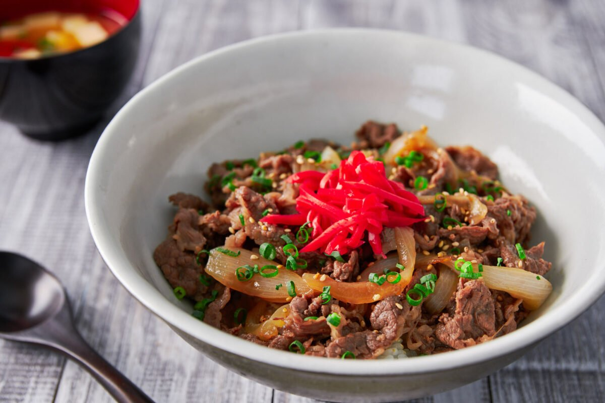 With thinly sliced beef and onions simmered in a sweet and savory broth, Gyudon is a classic Japanese rice bowl that comes together in minutes from just a handful of ingredients.