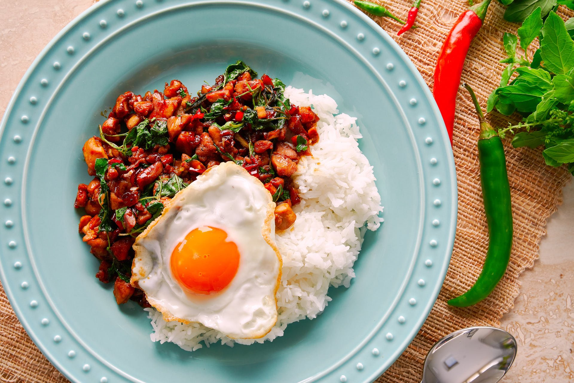 Basil Chicken or Pad Kraprow Gai is one of those easy, rewarding meals that come together in minutes, and yet it's brimming with flavor.