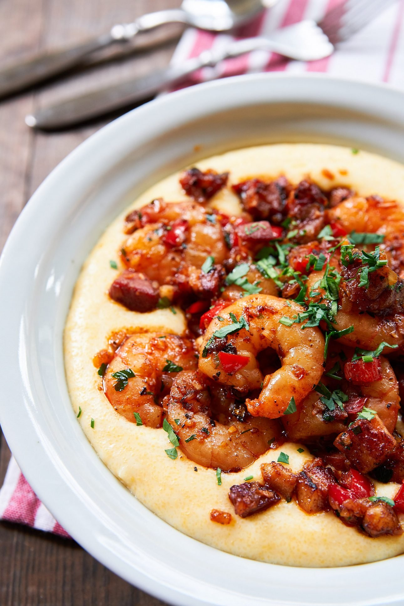 With smoky garlicky shrimp on a bed of rich cheesy grits, this Shrimp and Grits recipe is the best.