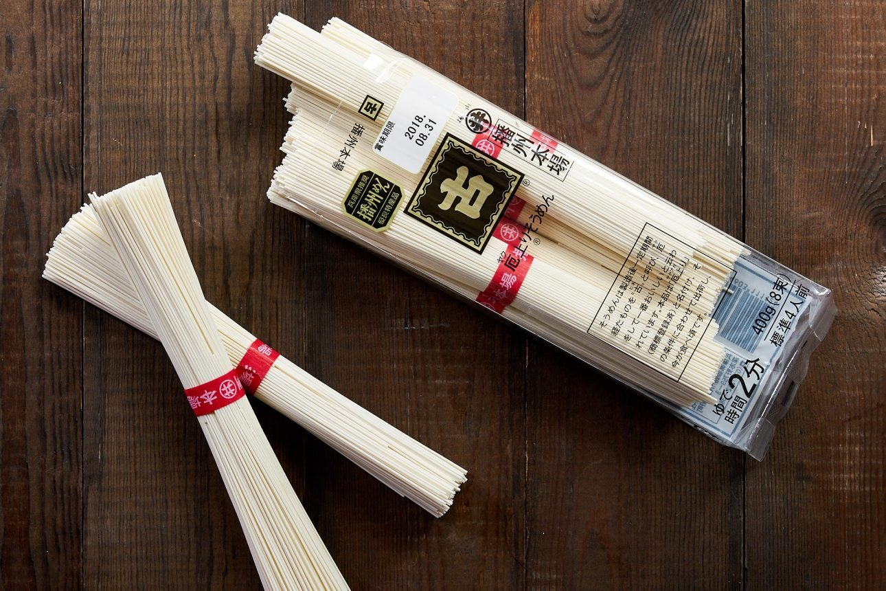 Somen is a thin Japanese wheat noodle that's usually served chilled with a dipping sauce.
