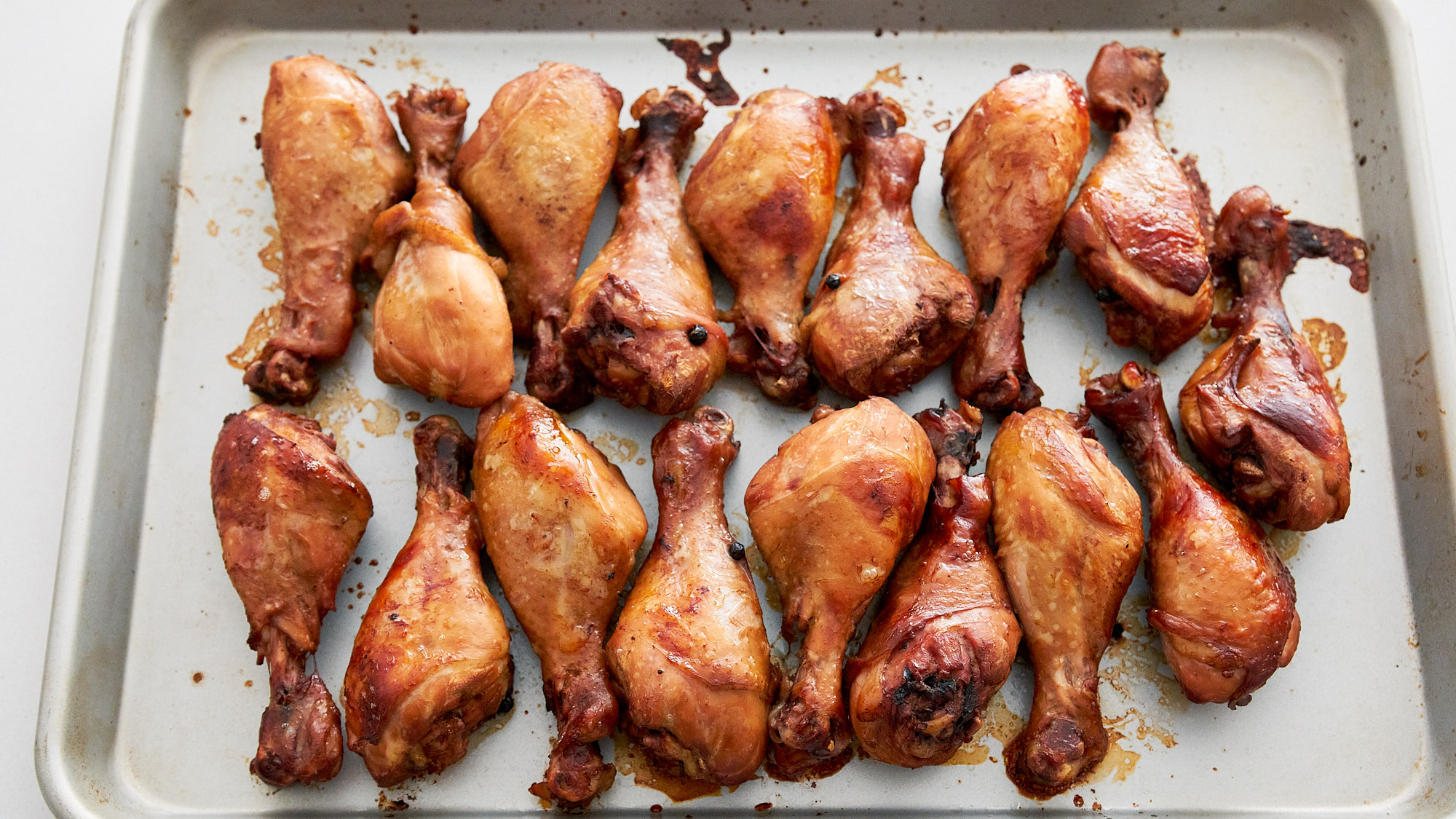 Roast the chicken in the oven until the skin caramelizes.