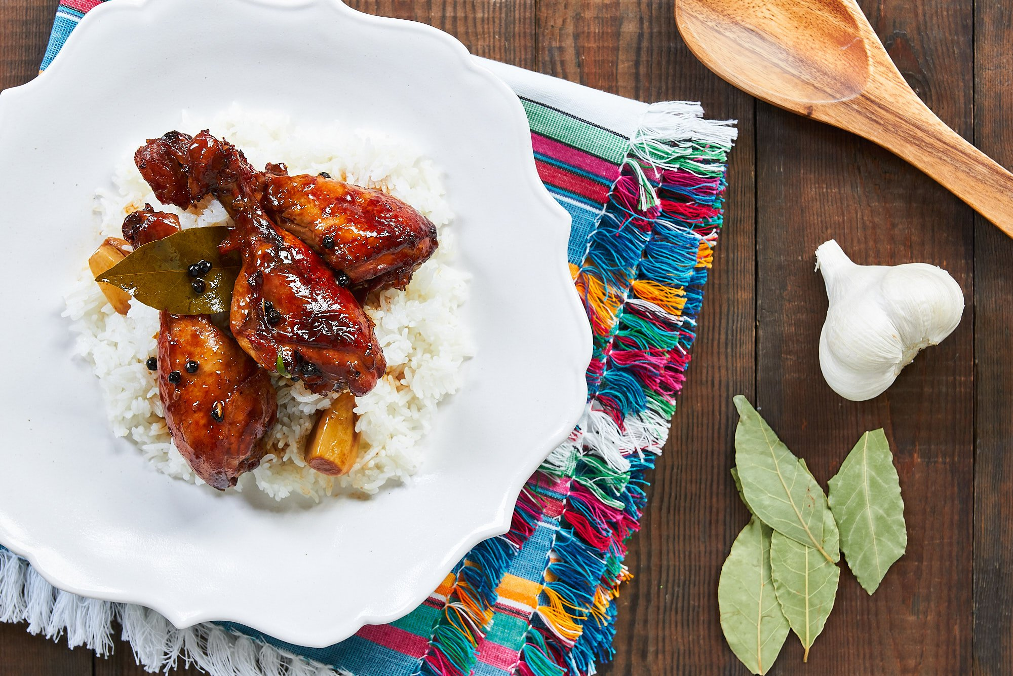 This easy chicken adobo comes together from just a handful of ingredients.