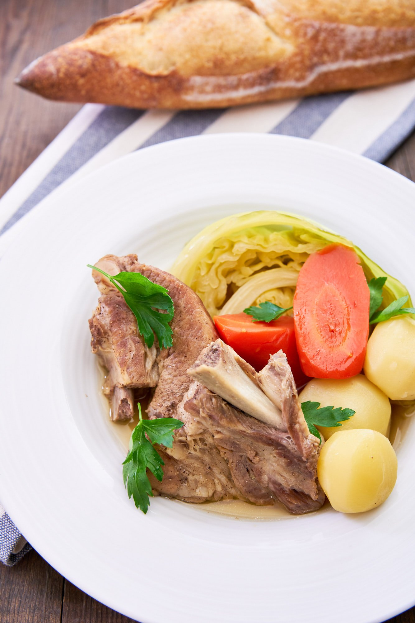 Making this Pot au Feu is as simple as simmering cured spareribs with veggies yet the ribs are flavorful and fall-apart tender thanks to a few easy tricks.