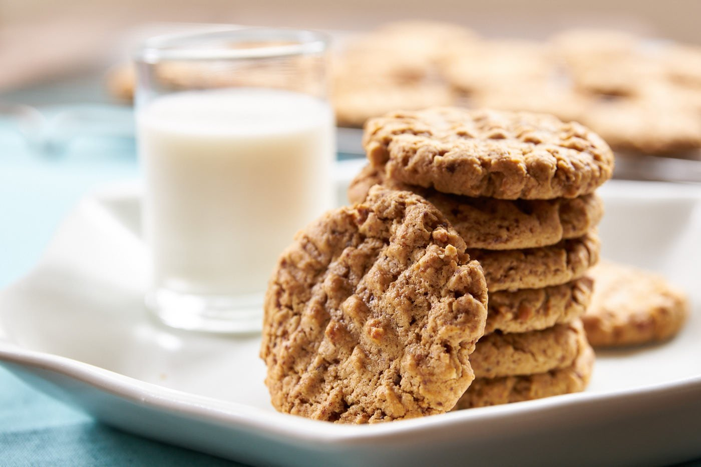 Replacing butter with peanut butter, not only makes these chewy PB cookies plant-based, it also makes them super simple to make.