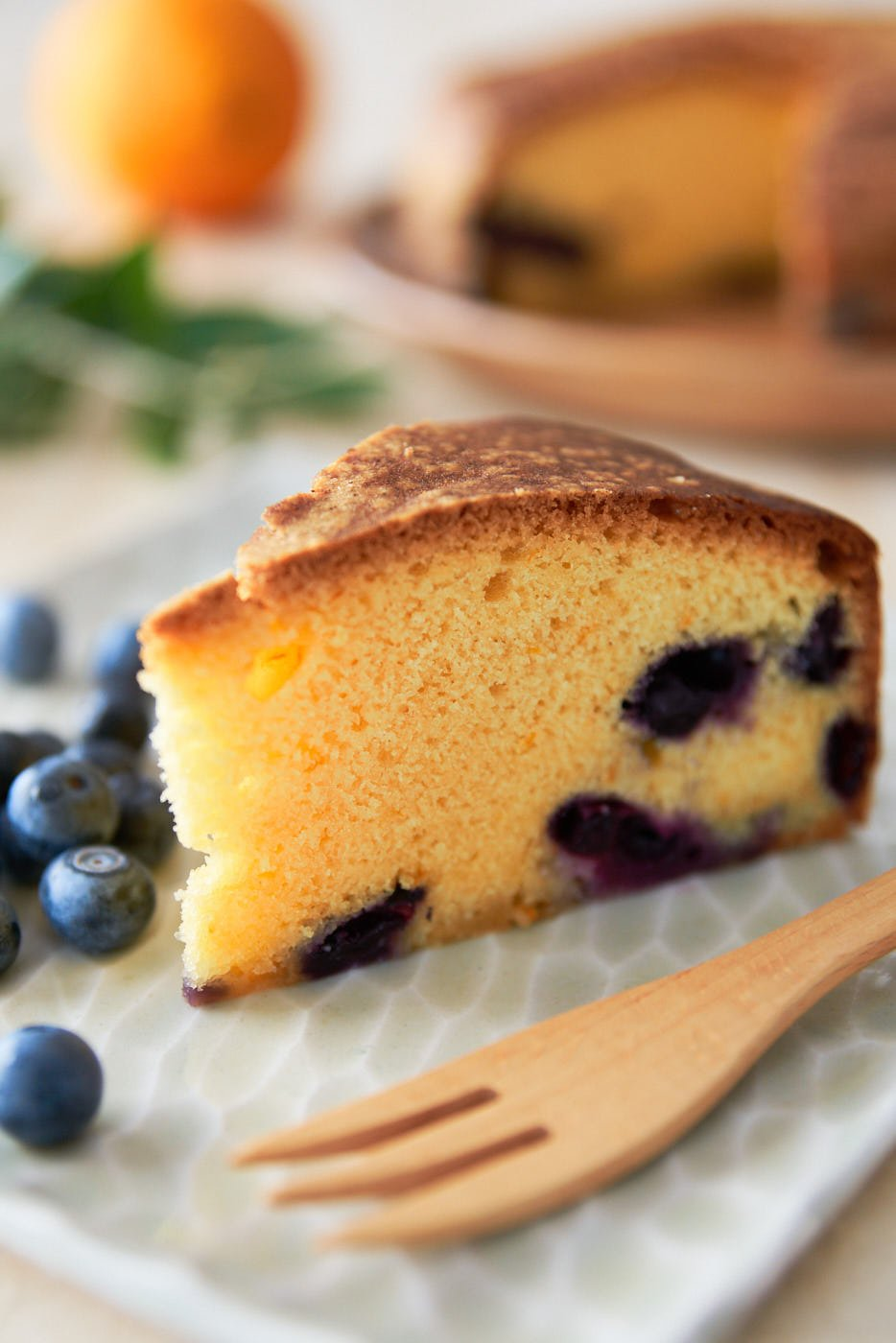 Mouthwatering blueberry olive oil cake recipe with juicy berries in an olive oil and orange infused cake.