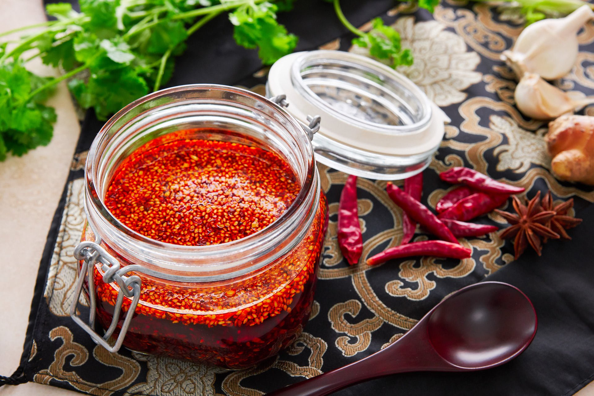 Change up your hot sauce routine with this Sichuan chili oil. Loaded with crisp garlic, sesame seeds and chili flakes it comes together in just minutes from a handful of ingredients.