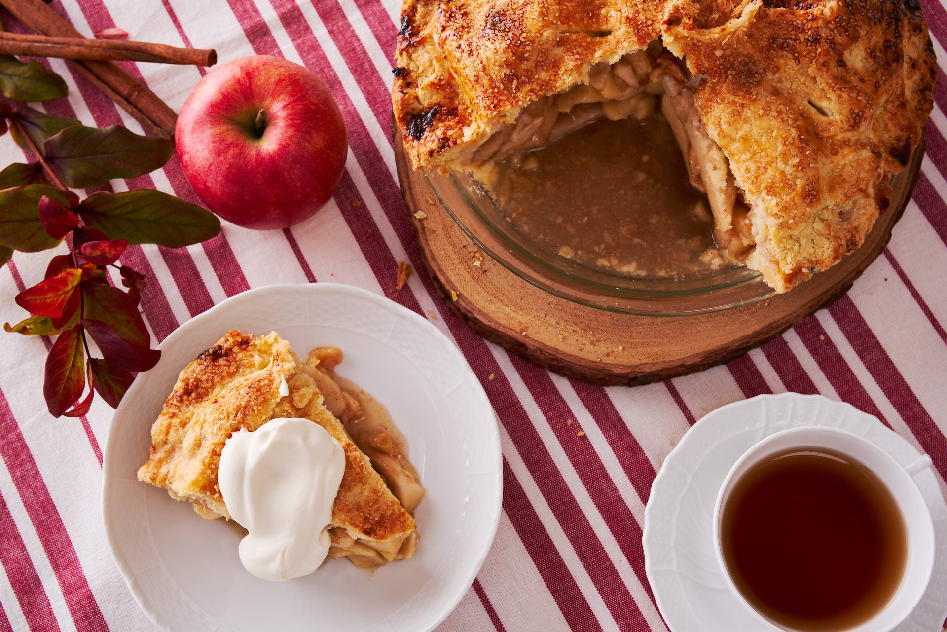 This recipe makes the best apple pie ever, with a flaky all-butter crust overstuffed with sweet autumn apples.