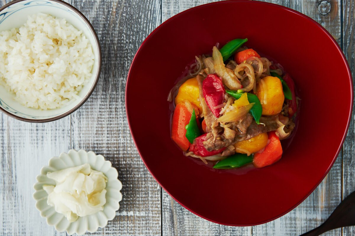 With just a handful of ingredients thrown in a pot and simmered for about 20 minutes, this easy Japanese beef and potato stew is comfort food at it's best.