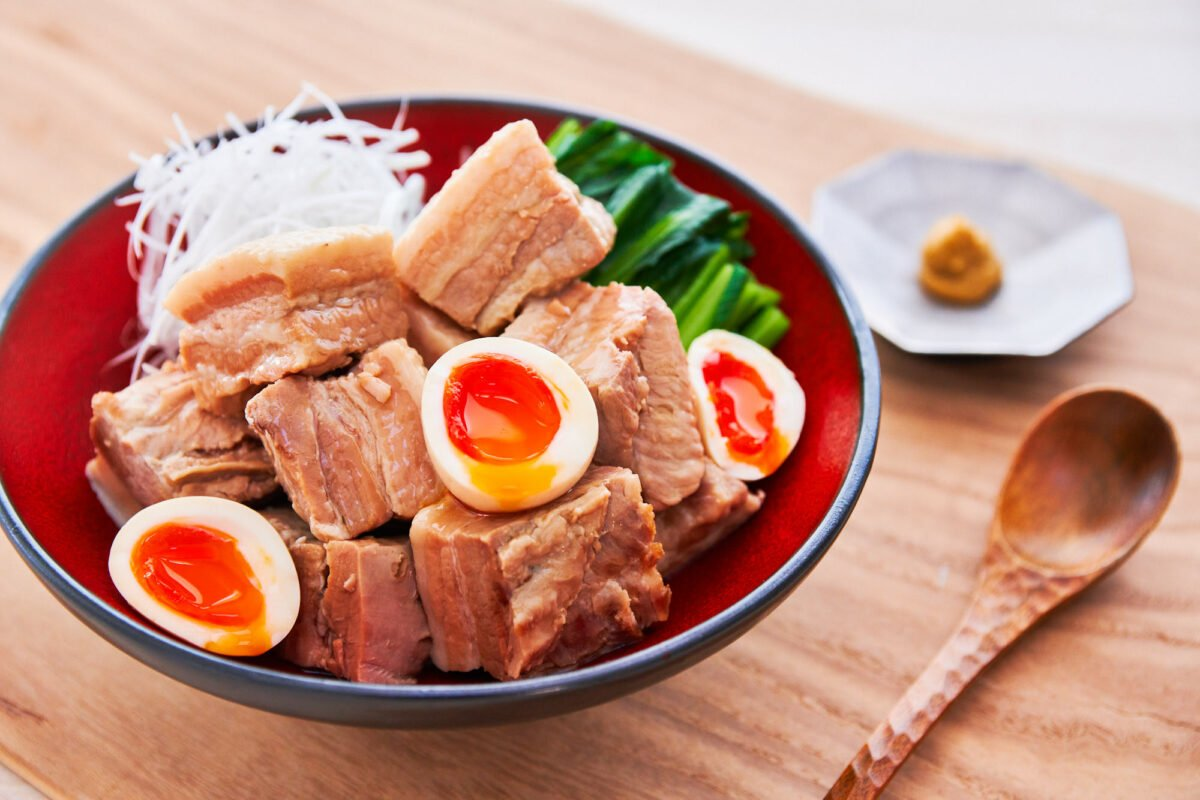 With melt-in-your-mouth cubes of pork belly and marinated ramen eggs, this Kakuni recipe is a Japanese classic that can't be missed.