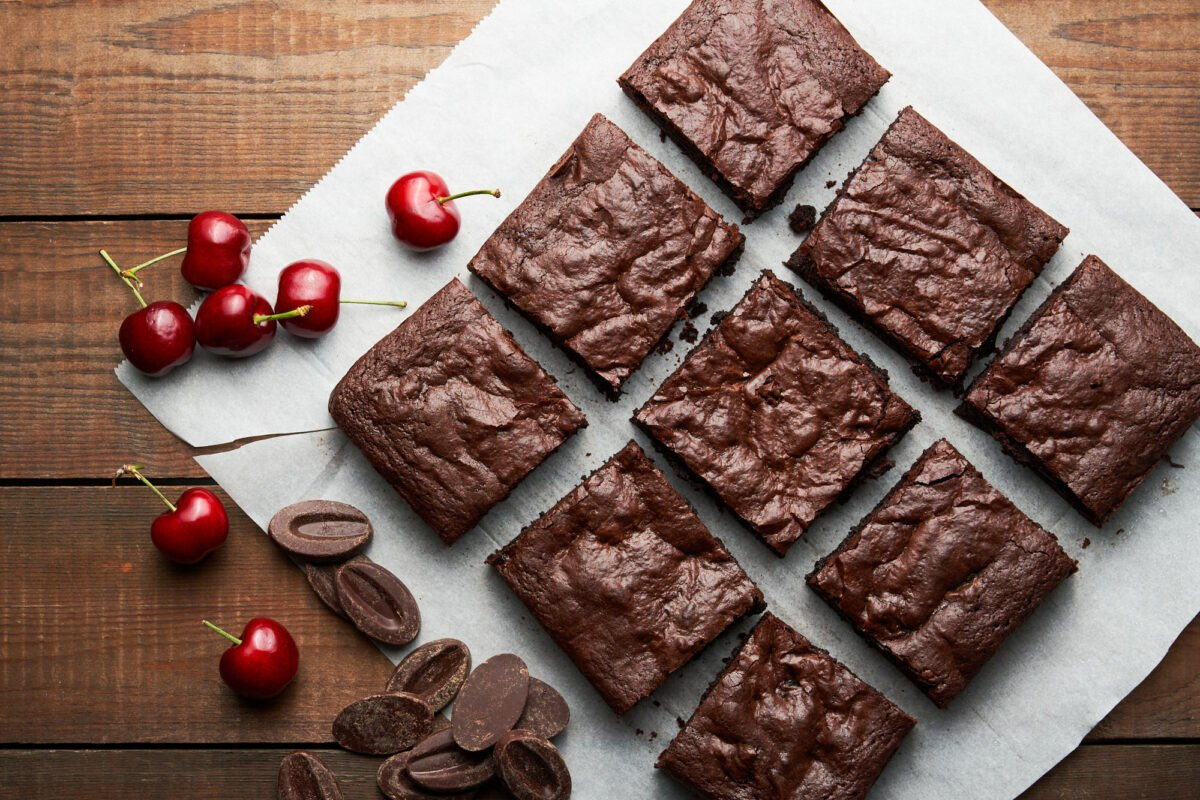 With loads of chocolate and cherries, these easy fudgy brownies are the best I've ever had.