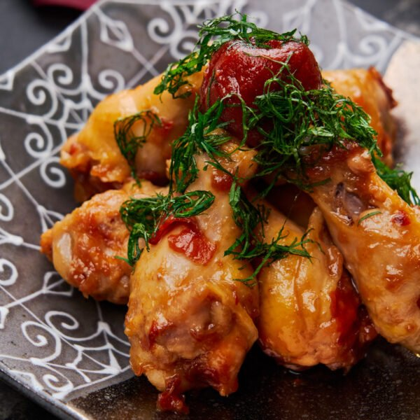 Tangy, savory, and sweet, these effortless braised chicken wings come together from umeboshi (Japanese pickled plums) and a handful of ingredients tossed in a pot and simmered together.