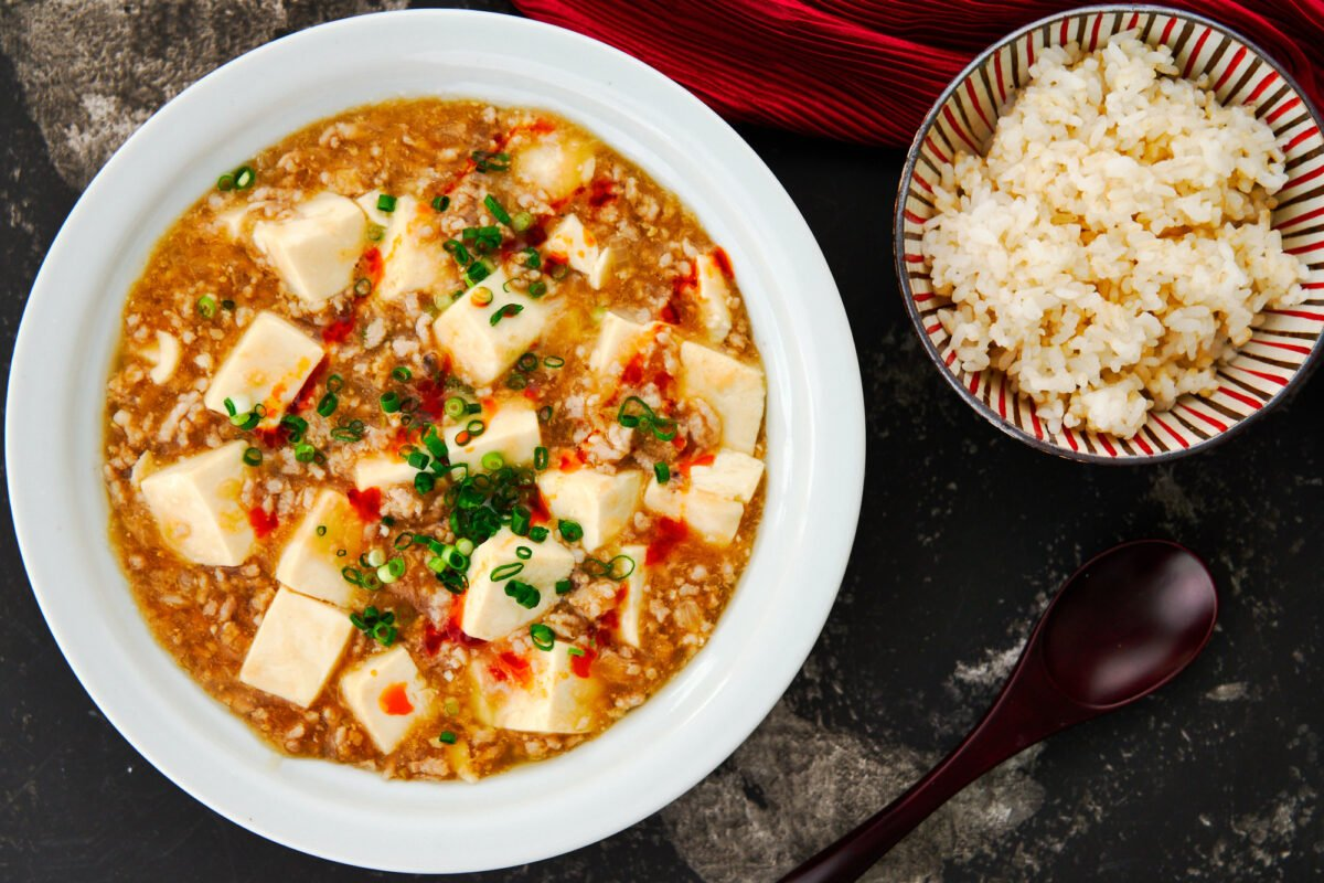 Savory and mildly spicy, the Japanese version of Mapo Tofu is an easy weeknight stir-fry that goes great over a bowl of rice.